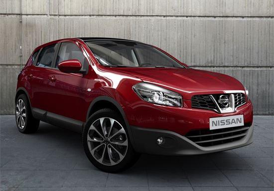 Фото: Вид спереди на Nissan Qashqai красного цвета