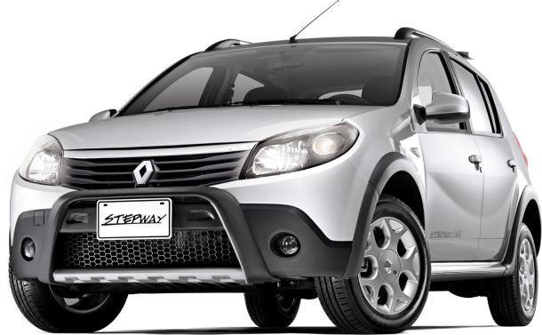 Фото: Renault Sandero Stepway серого цвета. Вид спереди