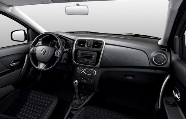 Фото: Салон Renault Sandero Stepway. Отделка в тёмных тонах