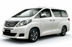 Фото: Toyota Alphard цвет жемчужно-белый
