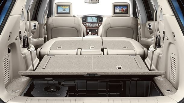 Фото: Разложенный багажник Nissan Pathfinder