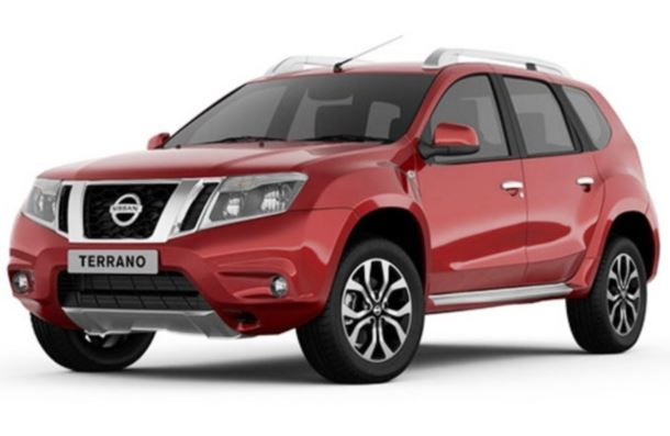 Фото: Внешний вид Nissan Terrano 2014 красного цвета