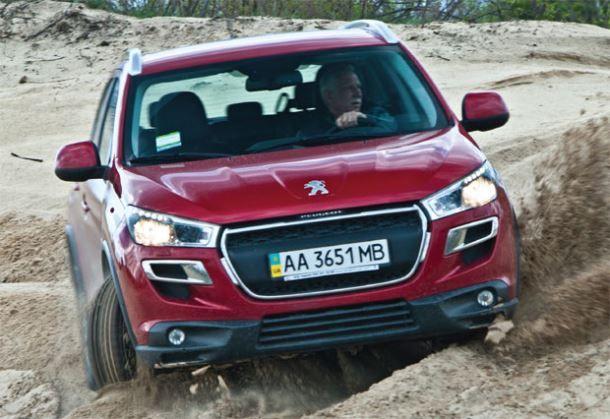 Фото: Peugeot 4008 на off-road