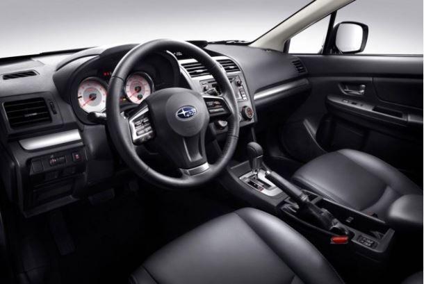 Фото: Салон Subaru Impreza кожаный, чёрного цвета