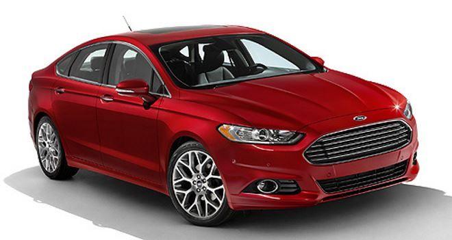 Фото: Новый Ford Mondeo 5 2014 красного цвета