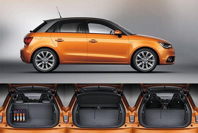 Фото: Багажник Audi A1 в различных положениях